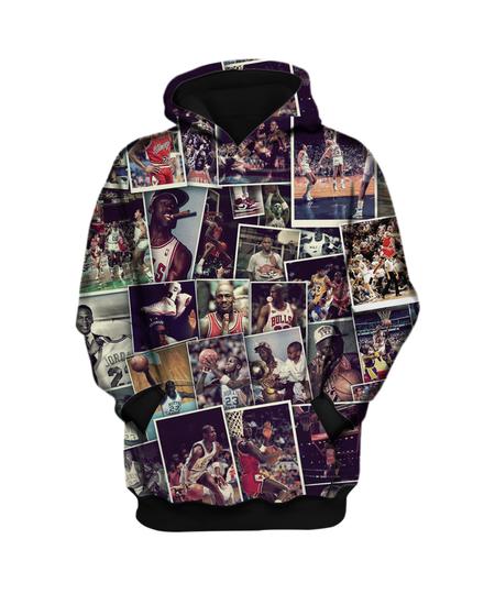 NBA  Air Jordan 3D Hoodie