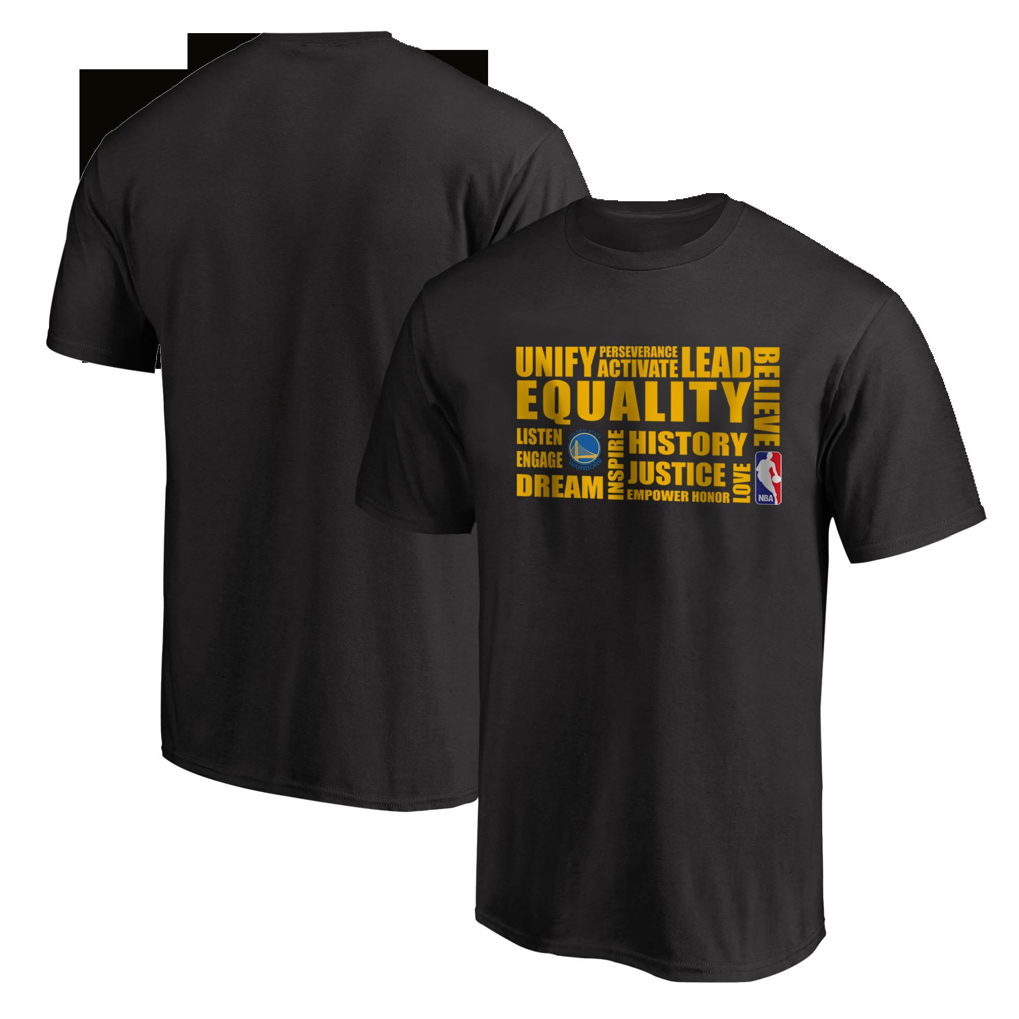 EQUALITY Golden State Warriors Tshirt (TSH-BLC-NP-290-NBA-GSW.yllw)