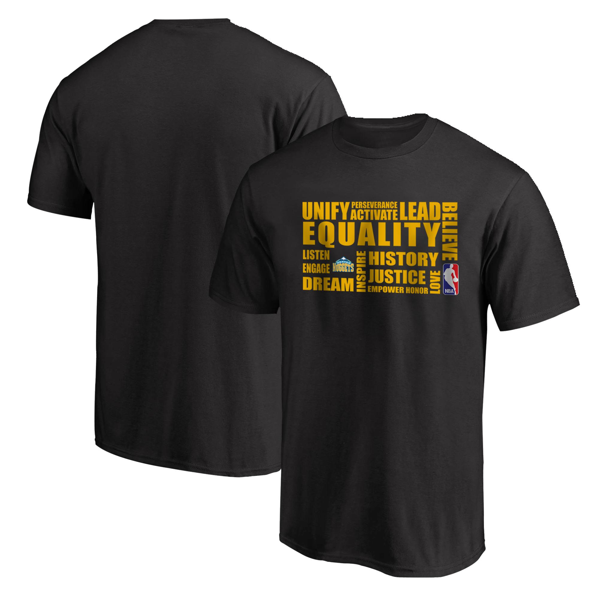 EQUALITY Denver Nuggets Tshirt (TSH-BLC-NP-290-NBA.DEN.yllw)