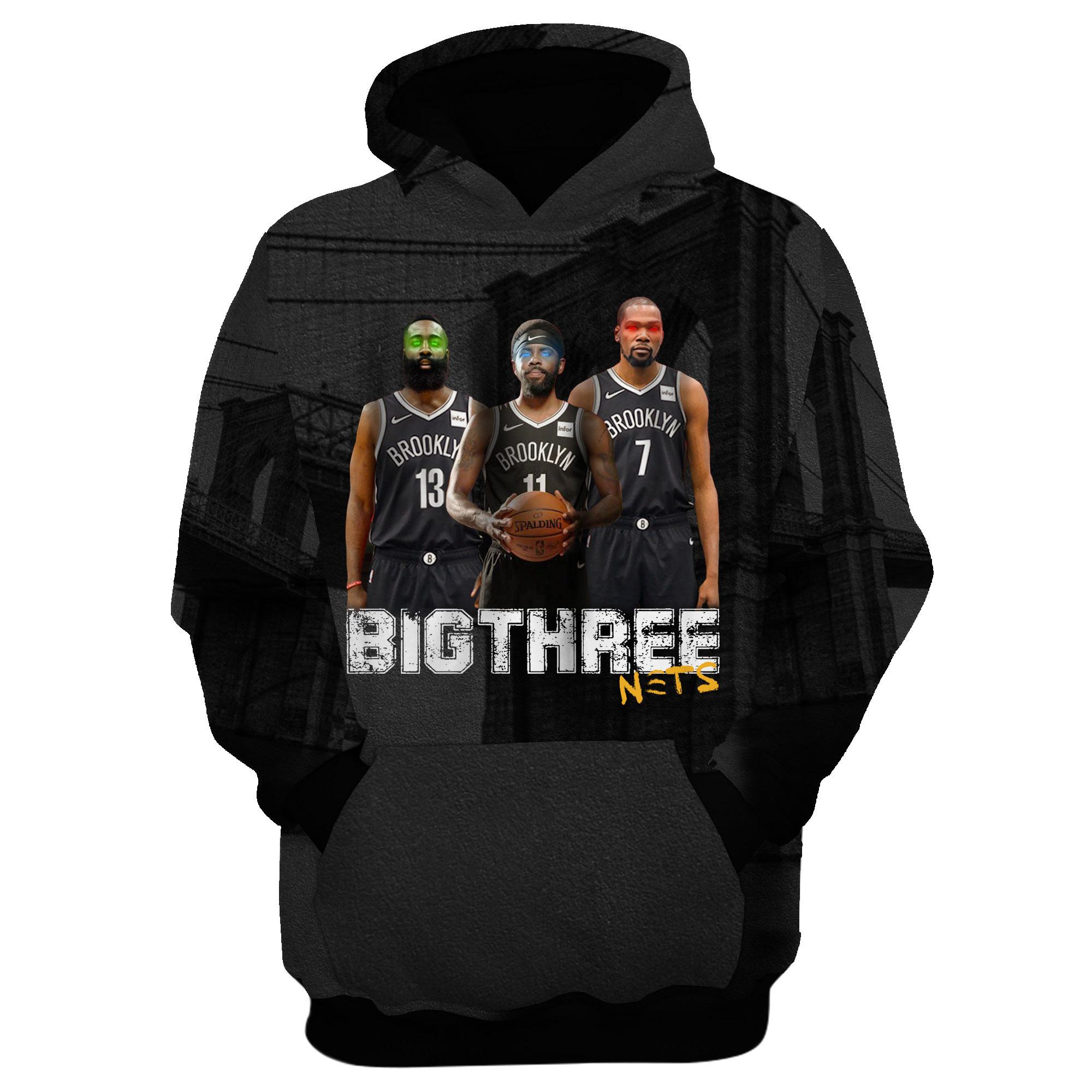 Brooklyn Nets 3D Hoodie (HD-3D-1034)