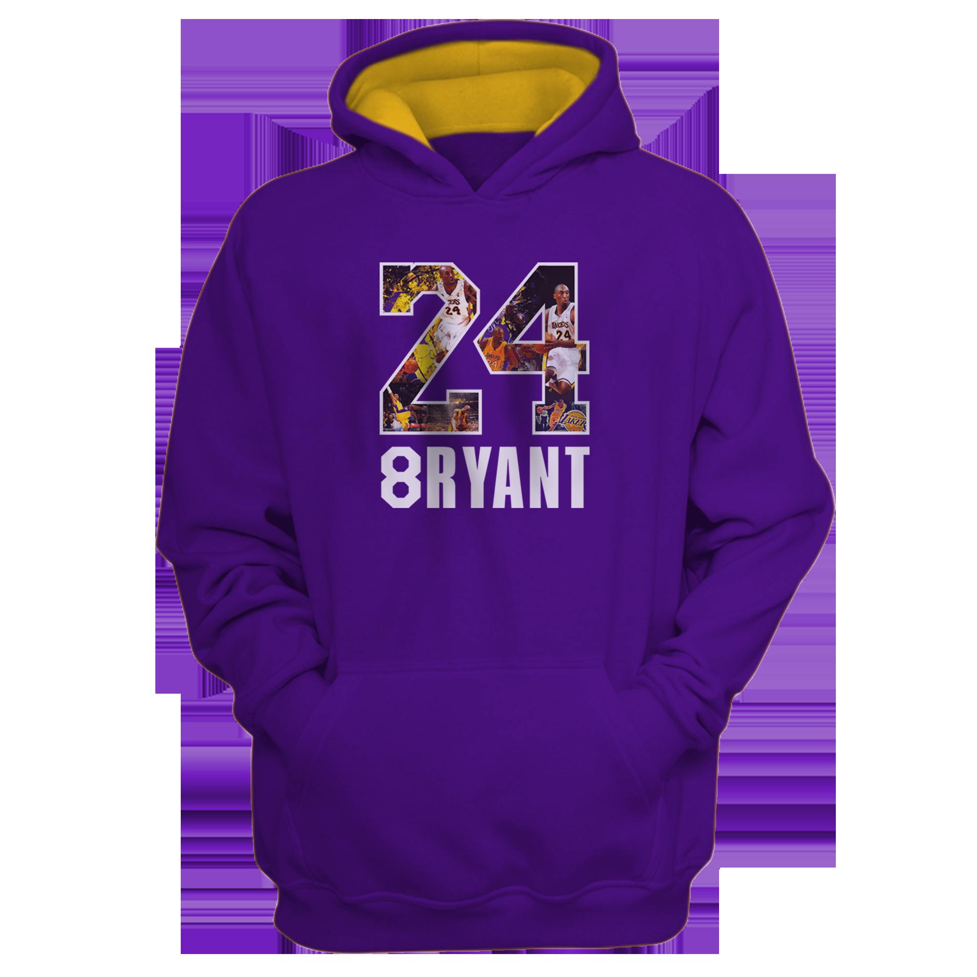 Kobe Bryant Hoodie (HD-puprl-141-PLYR-LAL-KOBE.24-SIGN)