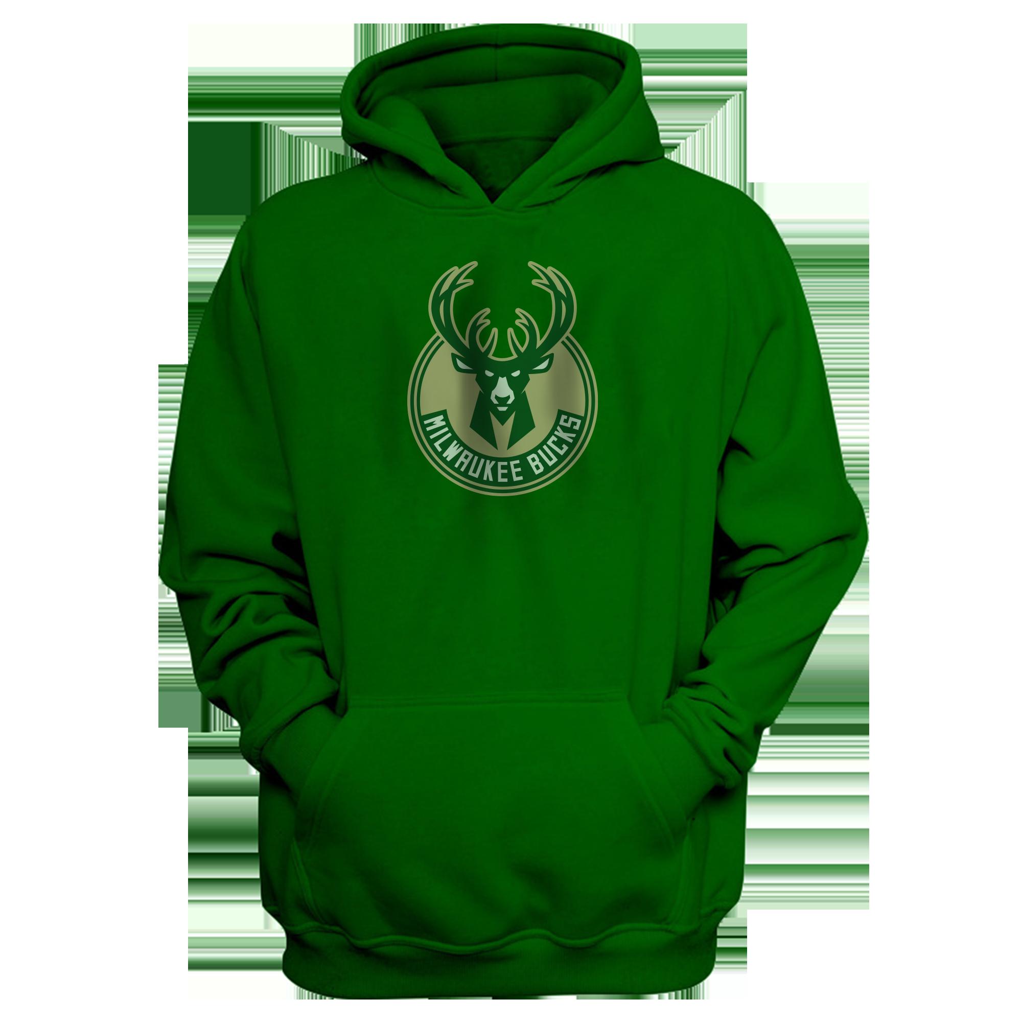 Milwaukee Bucks Hoodie (out-HD-GRN-151-NBA-MIL-LOGO)