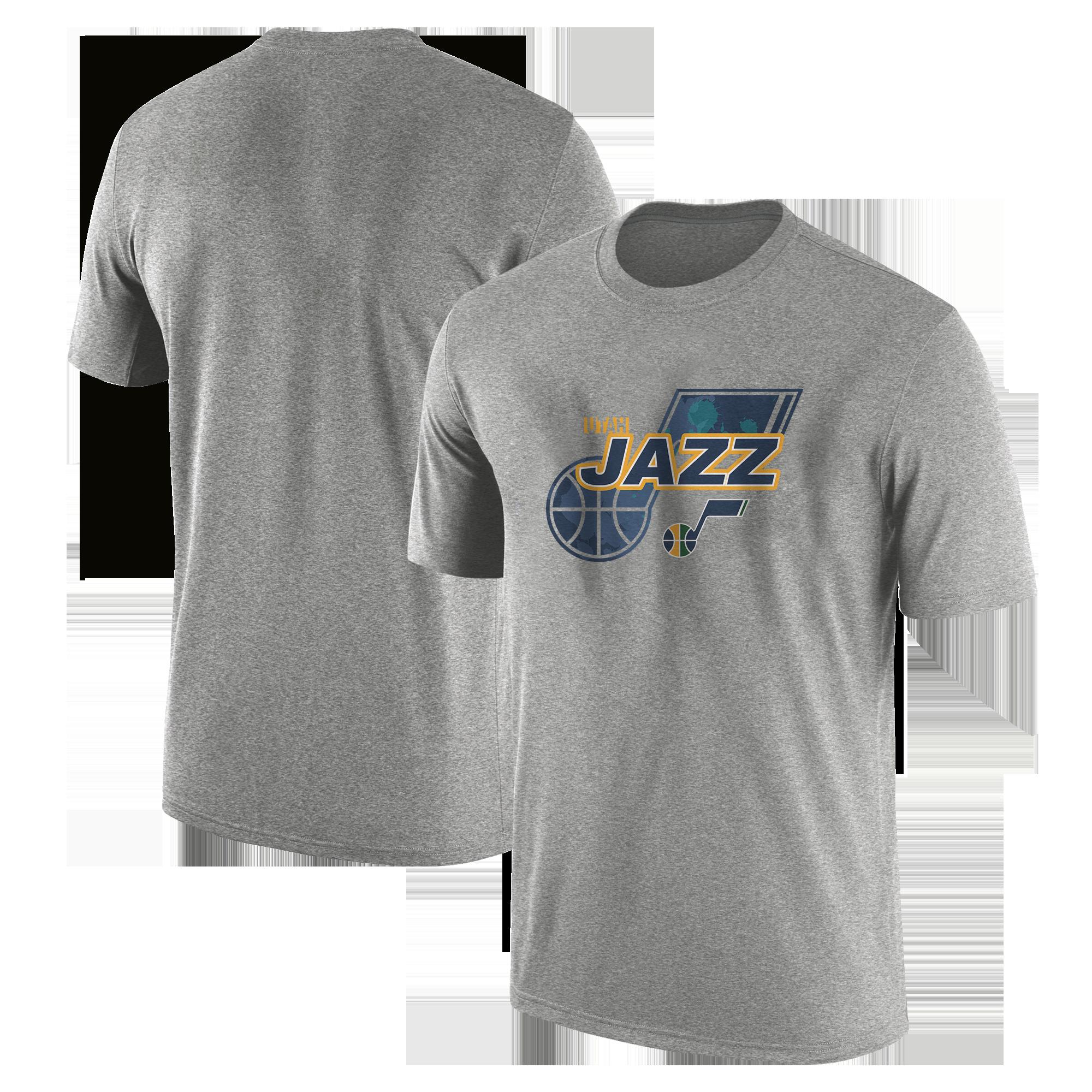 Utah Jazz  Tshirt (TSH-GRY-NP-200-NBA-UTH-LOGO)