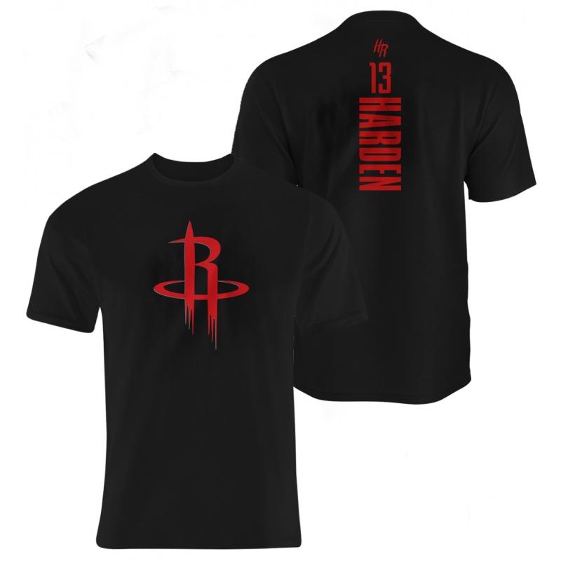 Houston Rockets James Harden Vertical Tshirt (TSH-GRY-NP-111-PLYR-HOU-HARDEN.VER.)