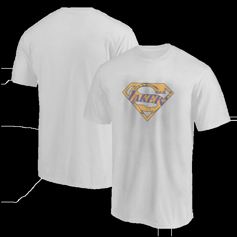 L.A. Lakers Lakers Superman Tshirt (TSH-GRY-NP-122-NBA-LAL-SUPERMAN)
