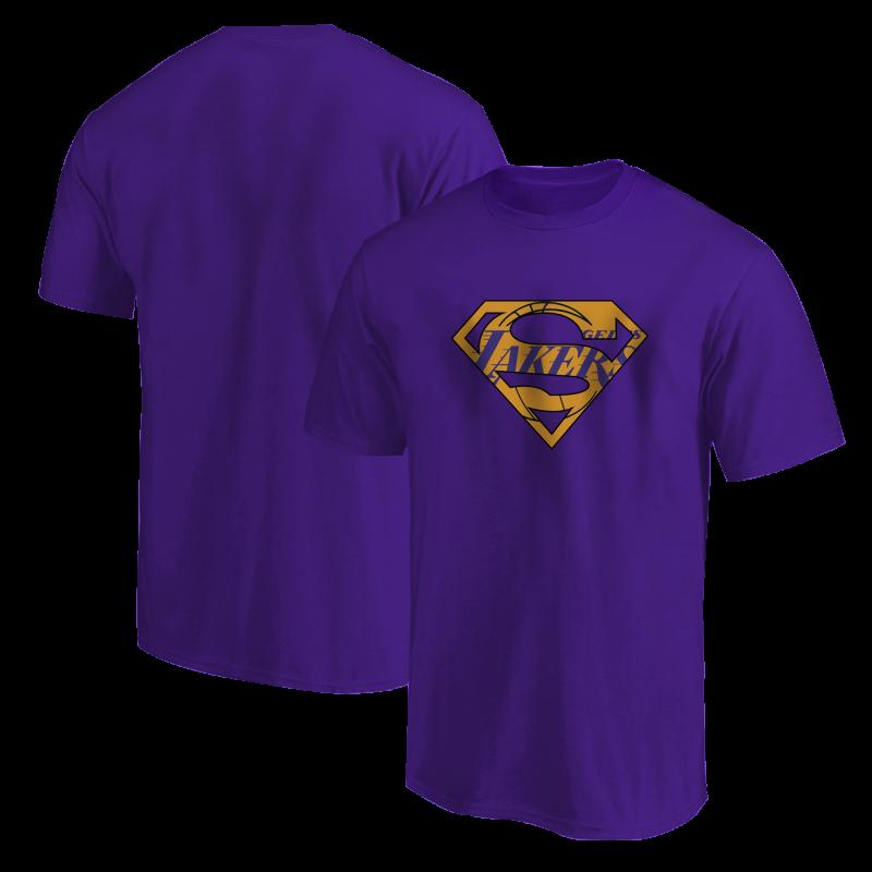 L.A. Lakers Lakers Superman Tshirt (TSH-GRY-122-NBA-LAL-SUPERMAN)