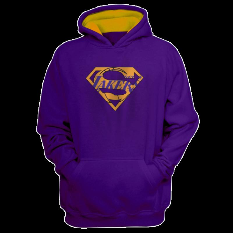 L.A. Lakers Lakers Superman  Hoodie (HD-BLC-122-NBA-LAL-SUPERMAN)