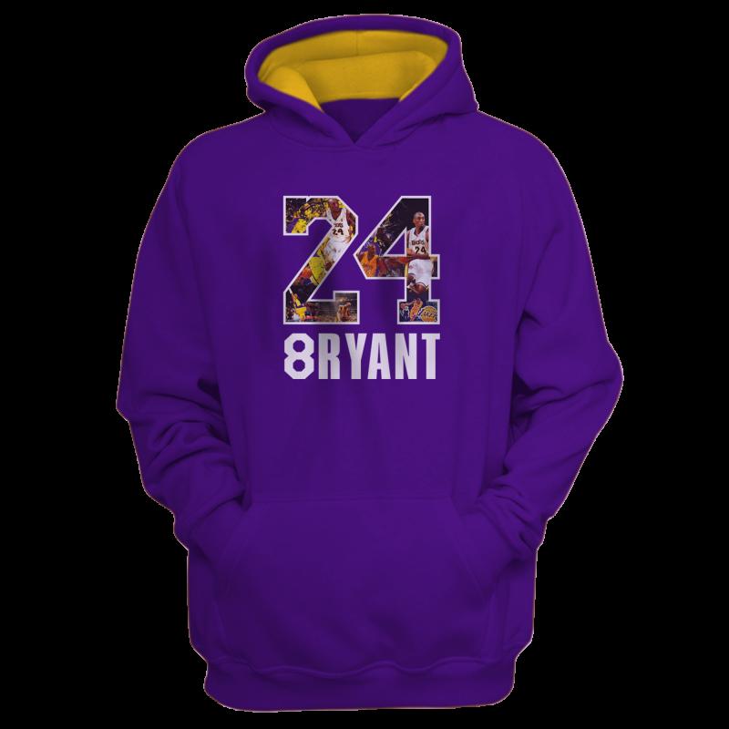 Kobe Bryant Hoodie (HD-BLC-NP-141-PLYR-LAL-KOBE.24-SIGN)