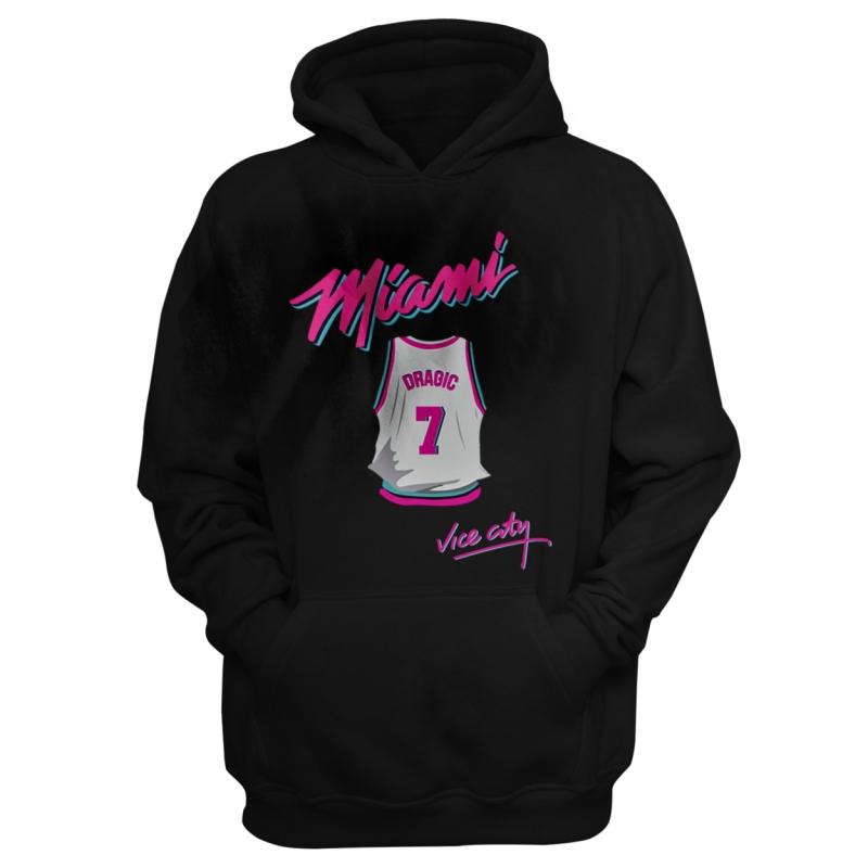 Miami Heat Vice City Hoodie (Dragic) (HD-GRY-NP-149-PLYR-MIA-DRAGIC.JRSY)