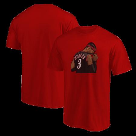 Philadelphia 76ers Allen Iverson Tshirt (TSH-GRY-185-PLYR-PHI-IVERSON.2)