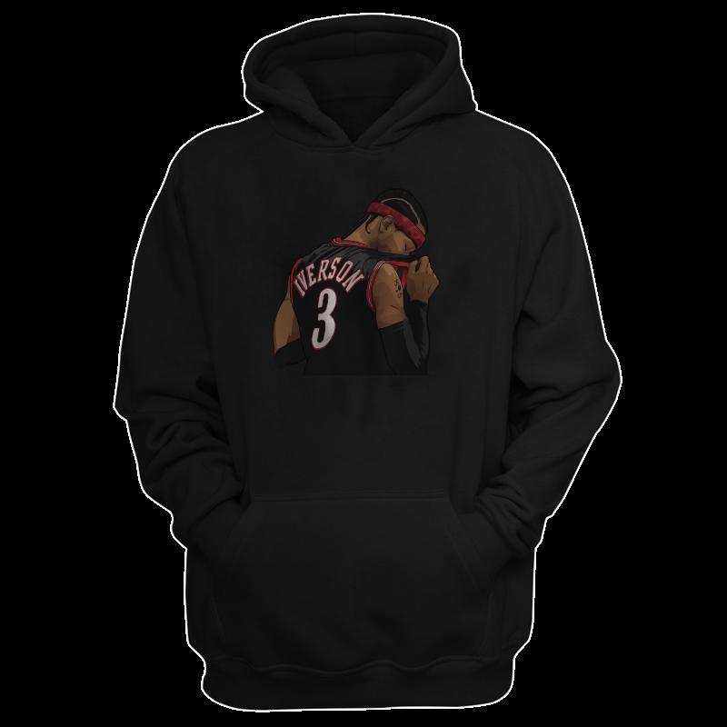 Philadelphia 76ers Allen Iverson Hoodie (HD-GRY-185-PLYR-PHI-IVERSON.2)