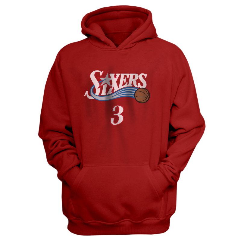 Philadelphia 76ers Sixers Allen Iverson Hoodie (HD-GRY-186-PLYR-PHI-IVERSON.FRM)