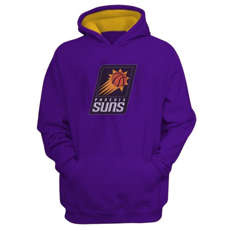 Phoenix Suns Hoodie (HD-GRY-187-NBA-PHO-LOGO)