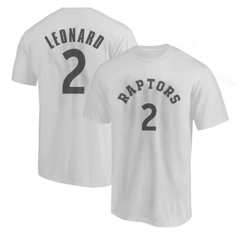 Toronto Raptors Kawhi Leonard T-Shirt (TSH-GRY-199-PLYR-TOR-KAWHI.FRM)