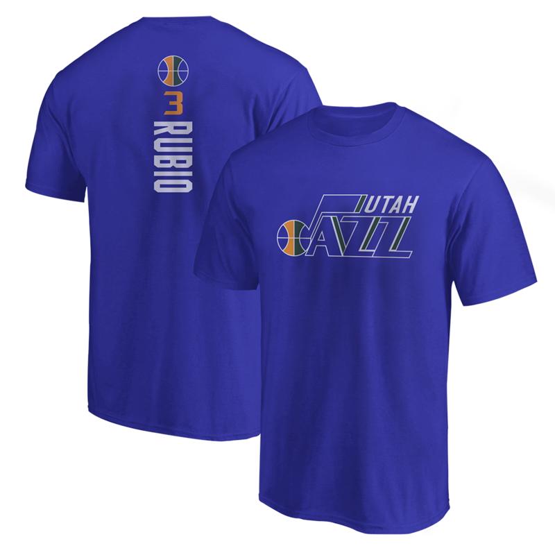 Utah Jazz Tshirt (TSH-BLC-202-PLYR-UTH-RUBIO.VER)