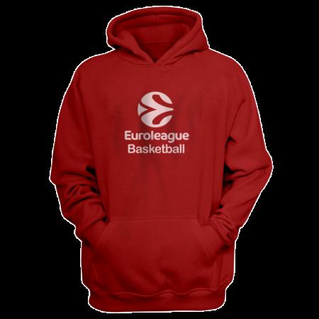 Euroleague Logo Euroleague Basketball  Hoodie (HD-BLC-PLT.euro.bsktbll.new-611)