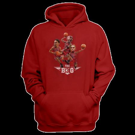 Chicago Bulls Chicago The B3G Hoodie  (HD-GRY-252-NBA-CHI-BIG3)