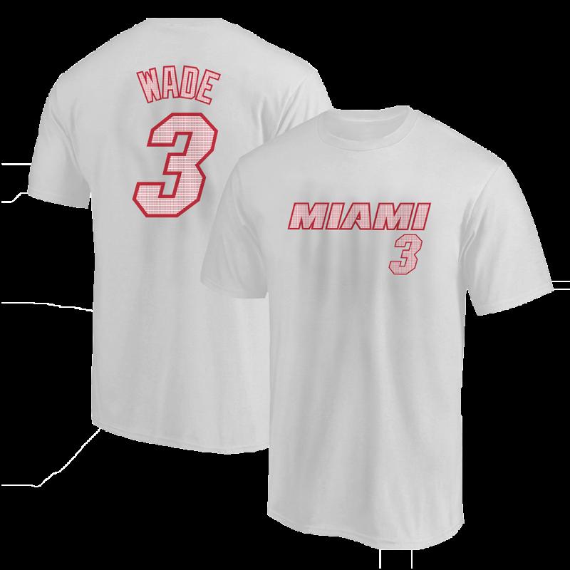 Dwyane Wade Tshirt (TSH-RED-NP-253-PLYR-MIA-WADE.FRM)