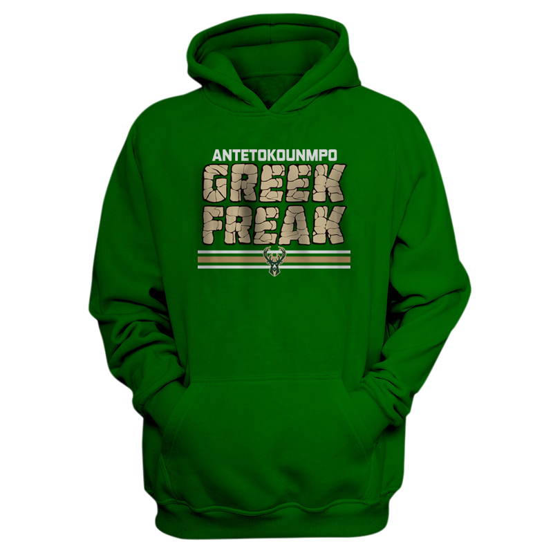 Milwaukee Bucks Milwaukee Greek Freak  Hoodie  (HD-GRN-288-PLYR-MIL-FREAK.GREEK)