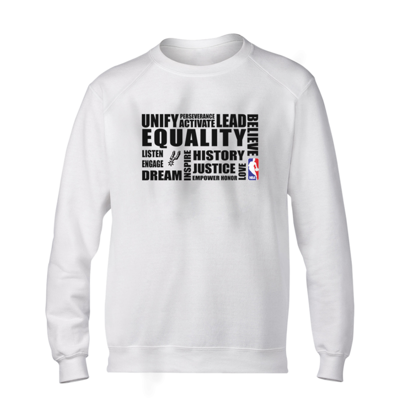 EQUALITY San Antonio Spurs Basic (BSC-GRY-292-NBA.SAS.syh)