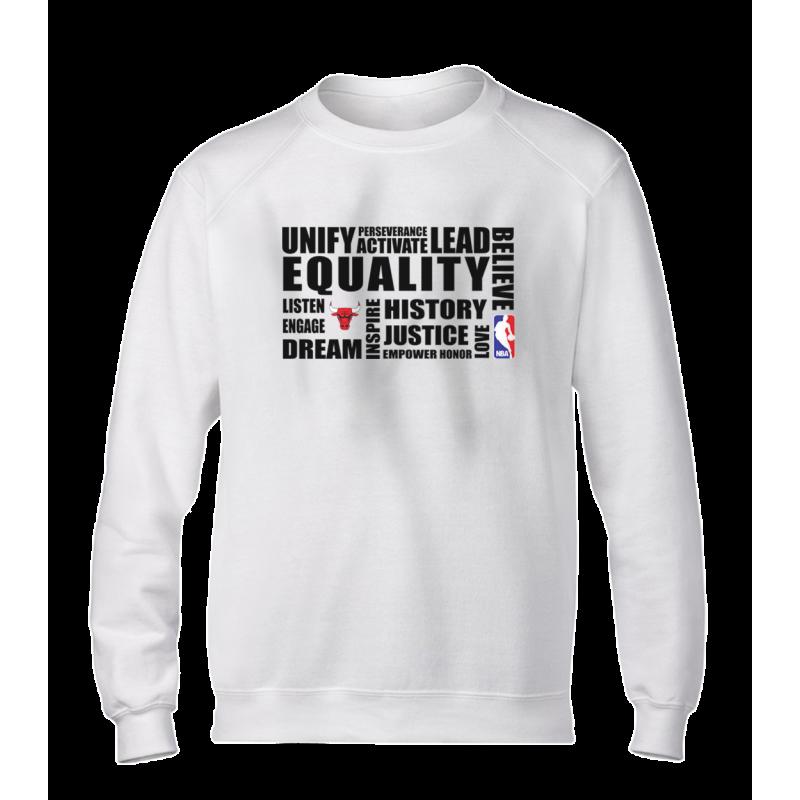 EQUALITY Chicago Bulls Basic (BSC-WHT-NP-292-NBA-CHI.black)
