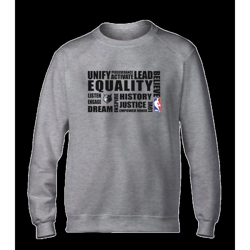 EQUALITY Minnesota Timberwolves Basic (BSC-WHT-NP-292-NBA.MİN.syh)