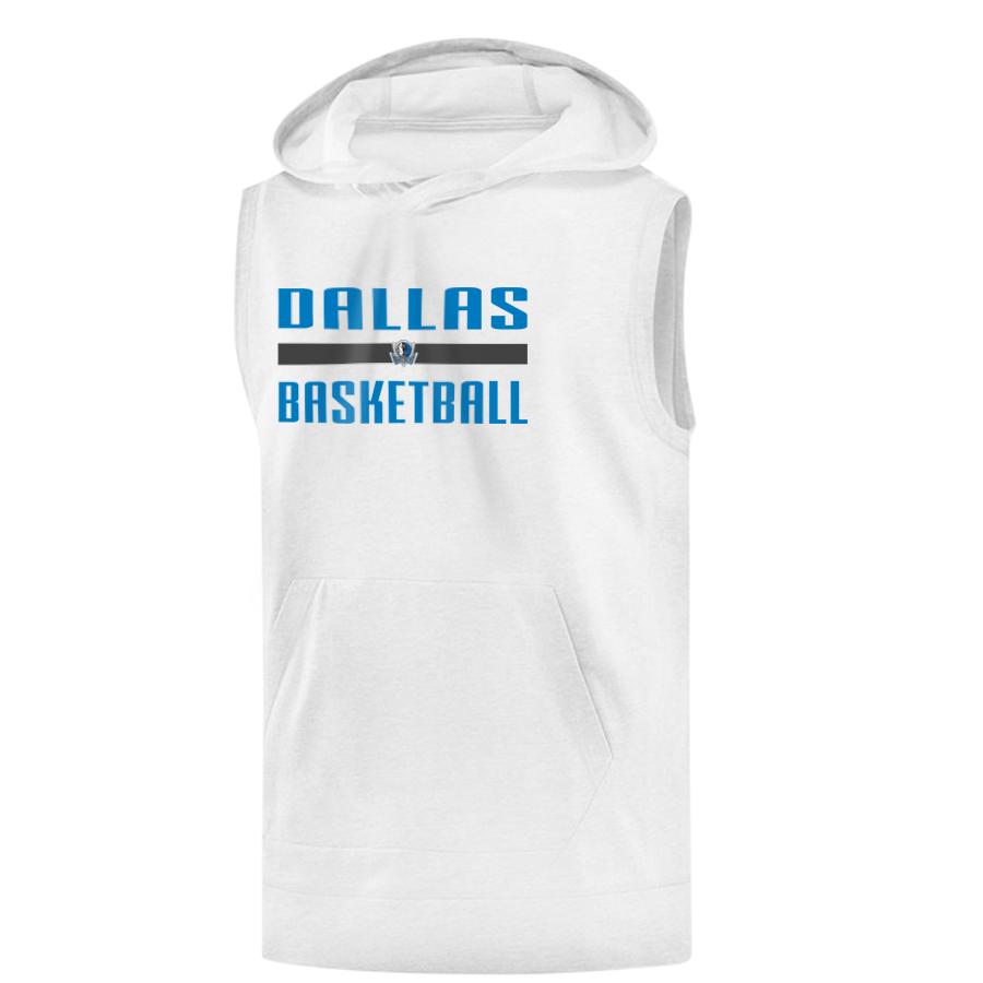 Dallas Mavericks Dallas Hoodie( Sleeveless) (KLS-wht--dlls-bsktbll)
