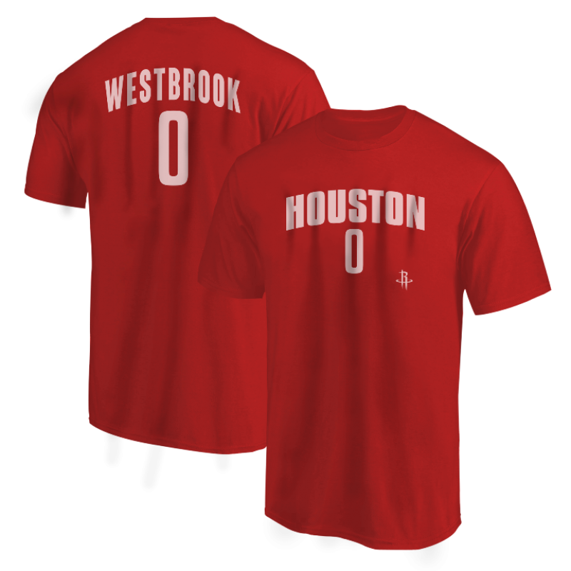 Houston Rockets Russell Westbrook Tshirt (TSH-BLC-336-PLYR-Westbrook0)