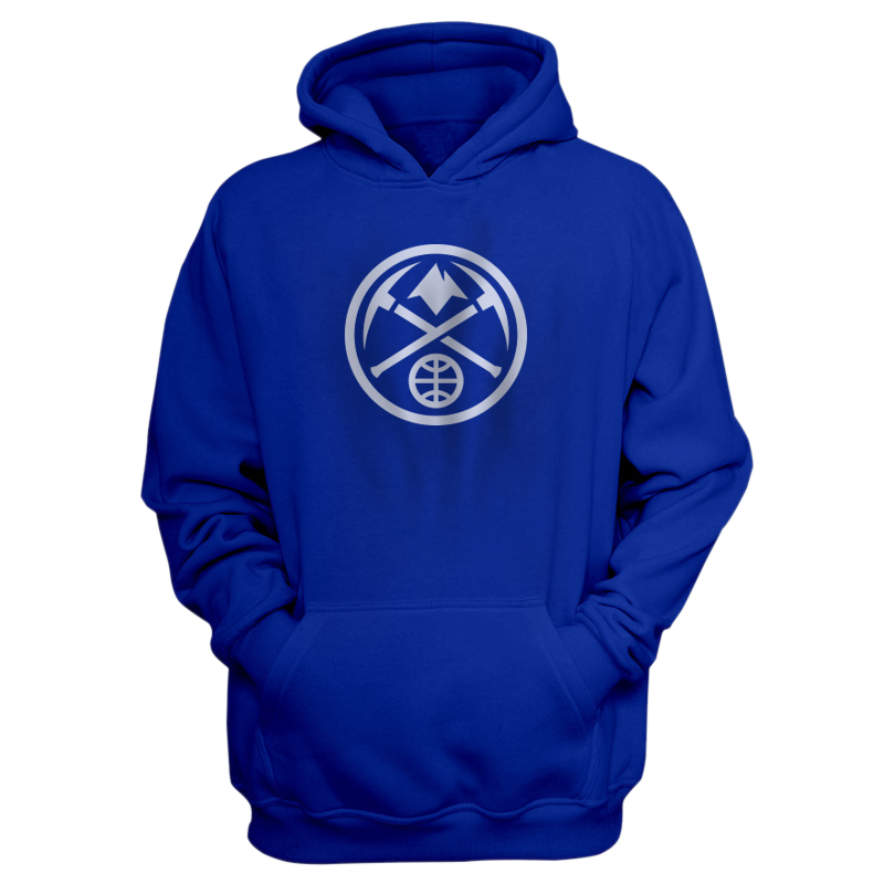 Denver Nuggets Logo Hoodie (HD-GRN-341-NBA-NUGGETS-LOGO-WHT)