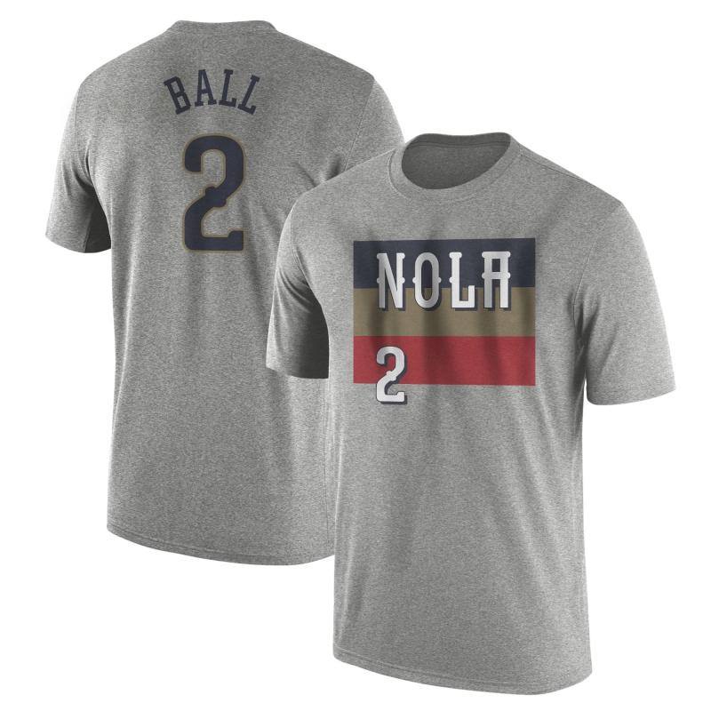 New Orleans Pelicans Lonzo Ball Tshirt (TSH-WHT-363-PLYR-NOLA-LONZO.FRM)