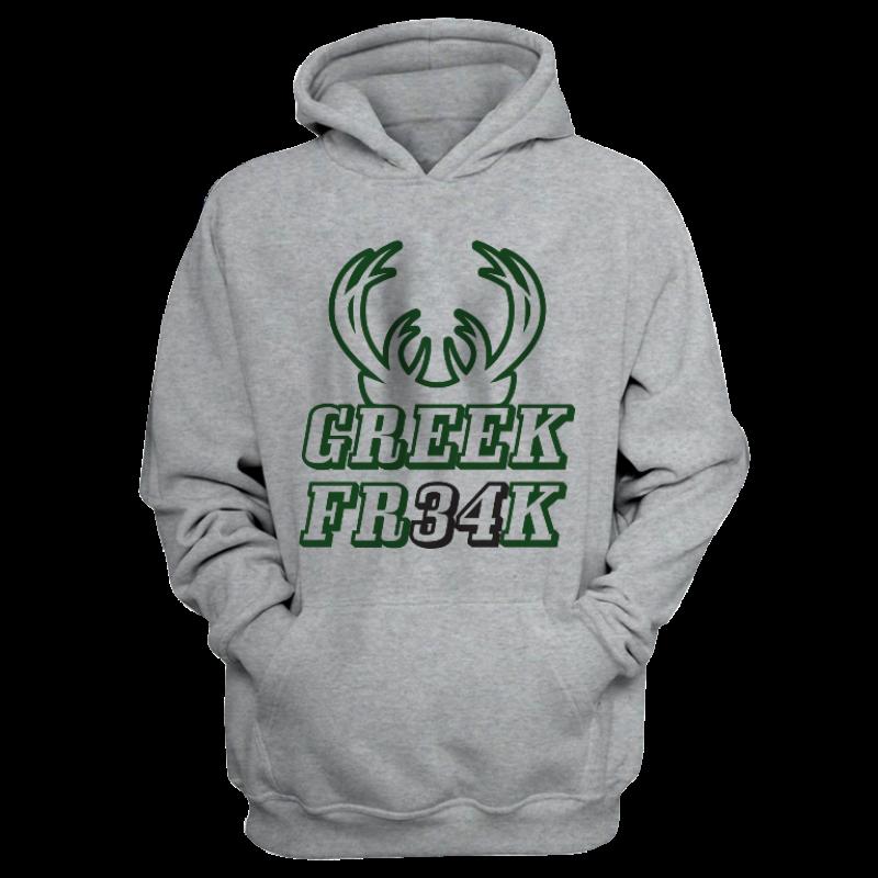 Milwaukee Bucks Milwaukee Greek Freak Hoodie (HD-WHT-373-NBA-greekfreak34)