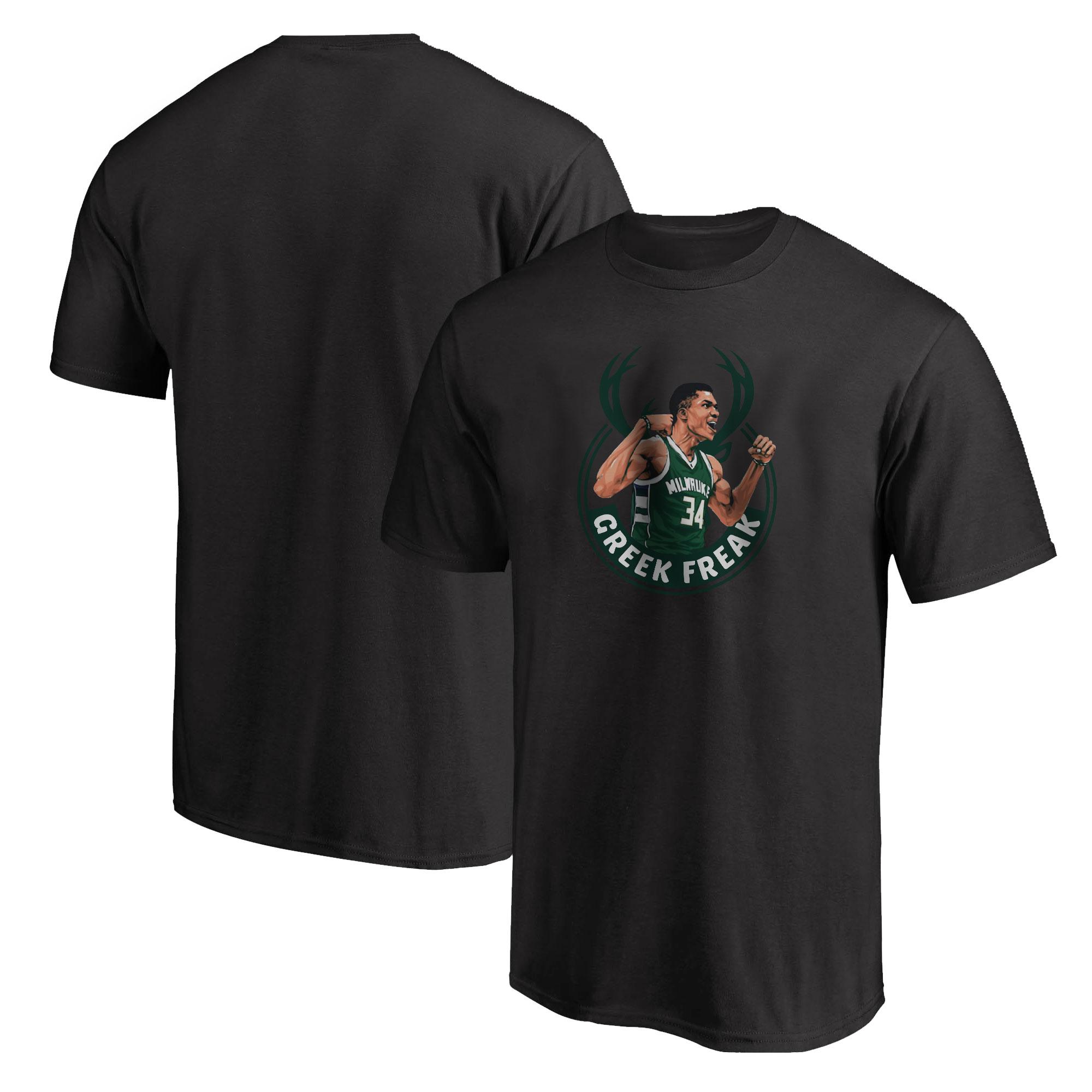 Milwaukee Bucks Greek Freak Tshirt (TSH-BLC-405.greekfreak-new)