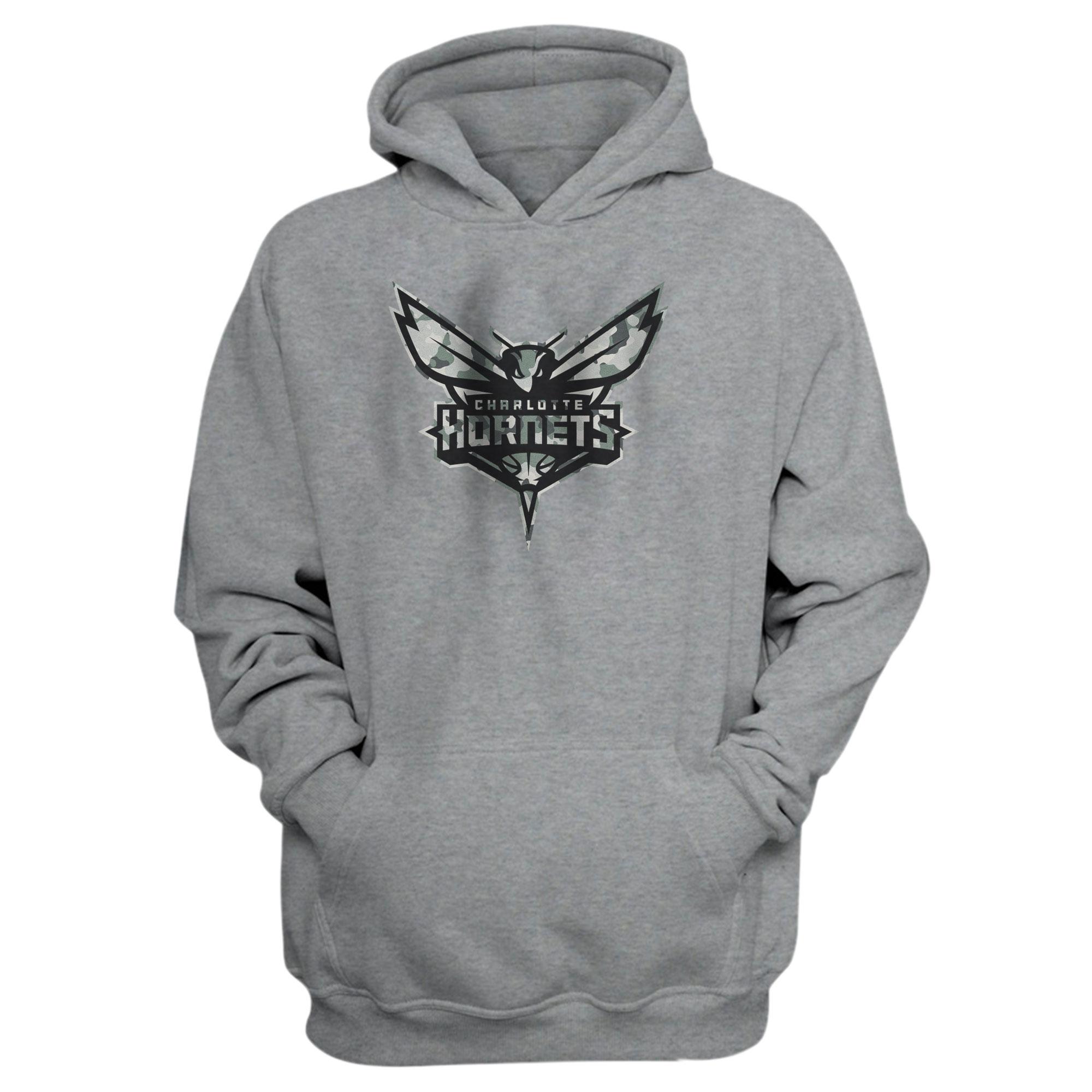 Charlotte Hornets Hoodie (HD-GRY-407-NBA-CHRL-HRNT-NEW)