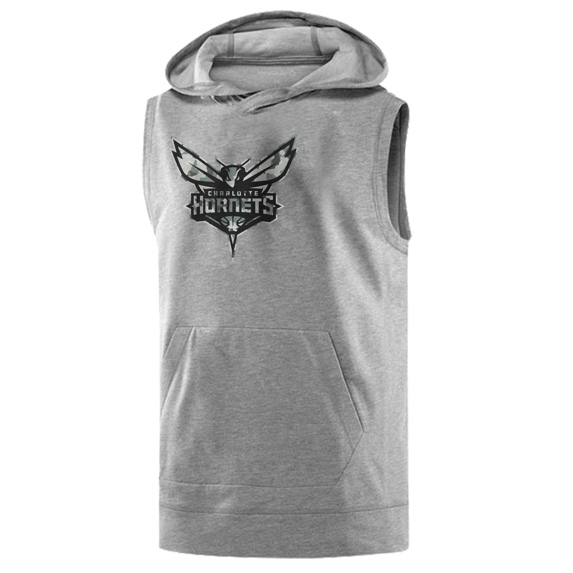 Charlotte Hornets Sleeveless (KLS-GRY-407-NBA-CHRL-HRNT-NEW)