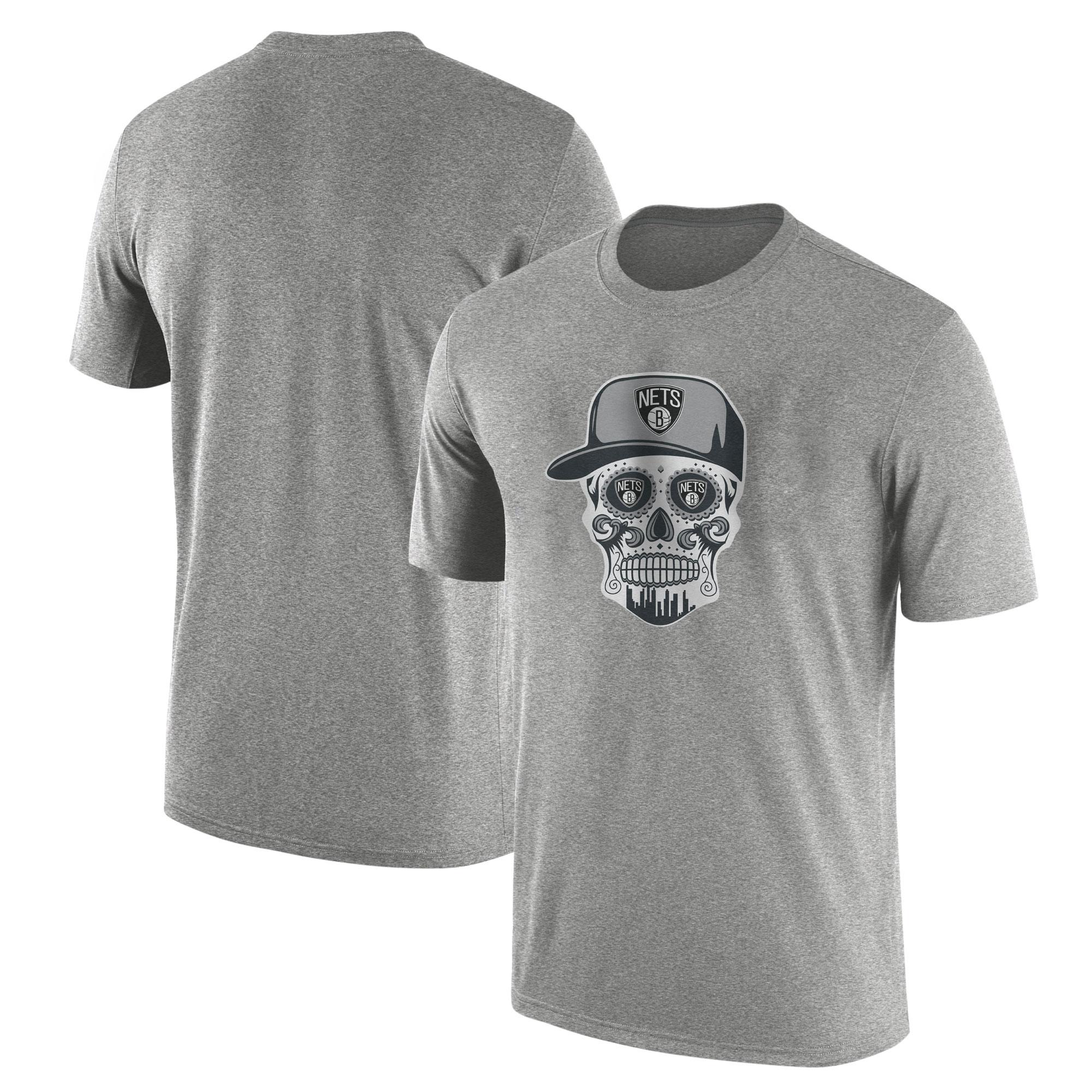 Brooklyn Skull  Tshirt (TSH-GRY-NP-445-NBA-BRO-SKULL)
