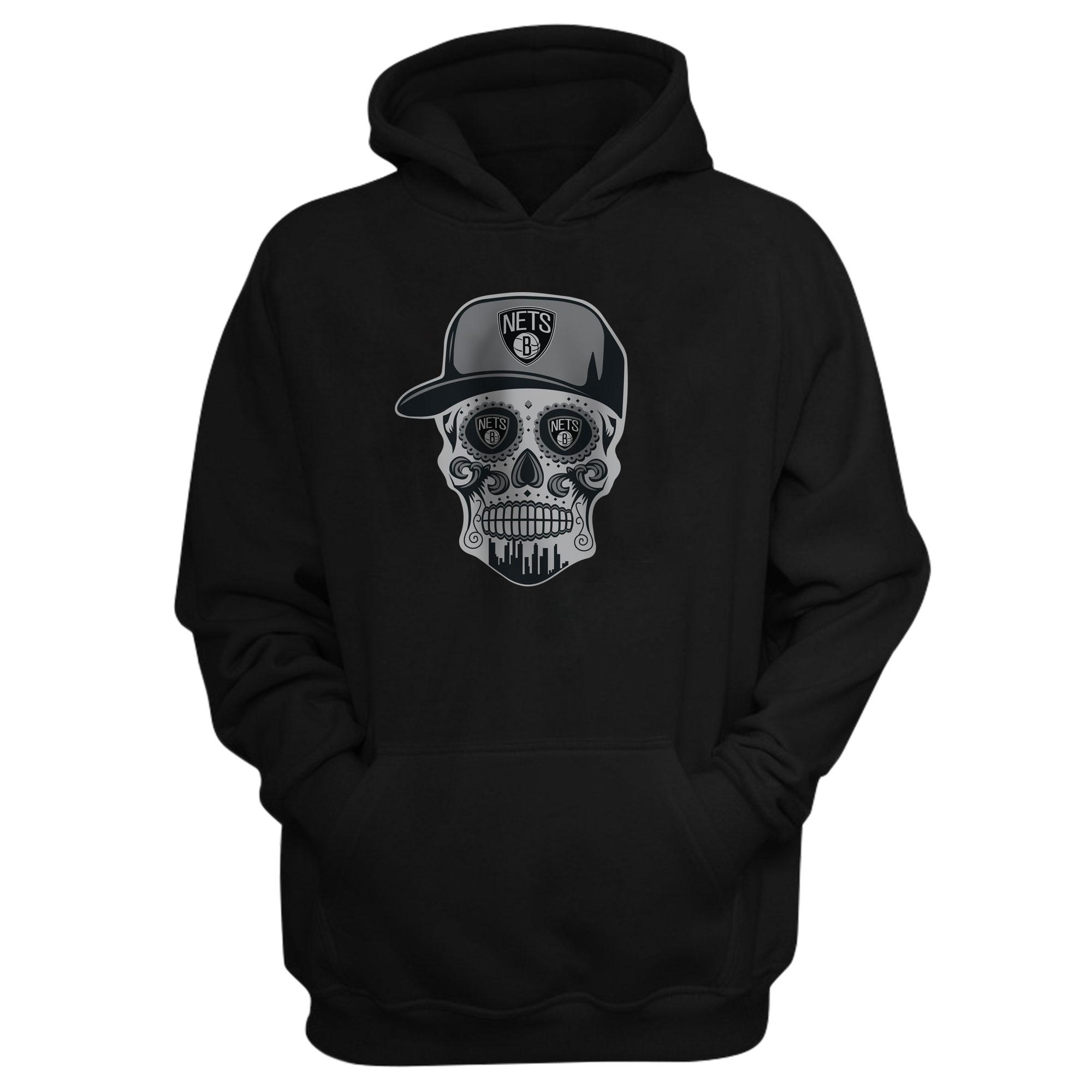 Brooklyn Skull Hoodie  (HD-BLC-NP-445-NBA-BRO. SKULL)
