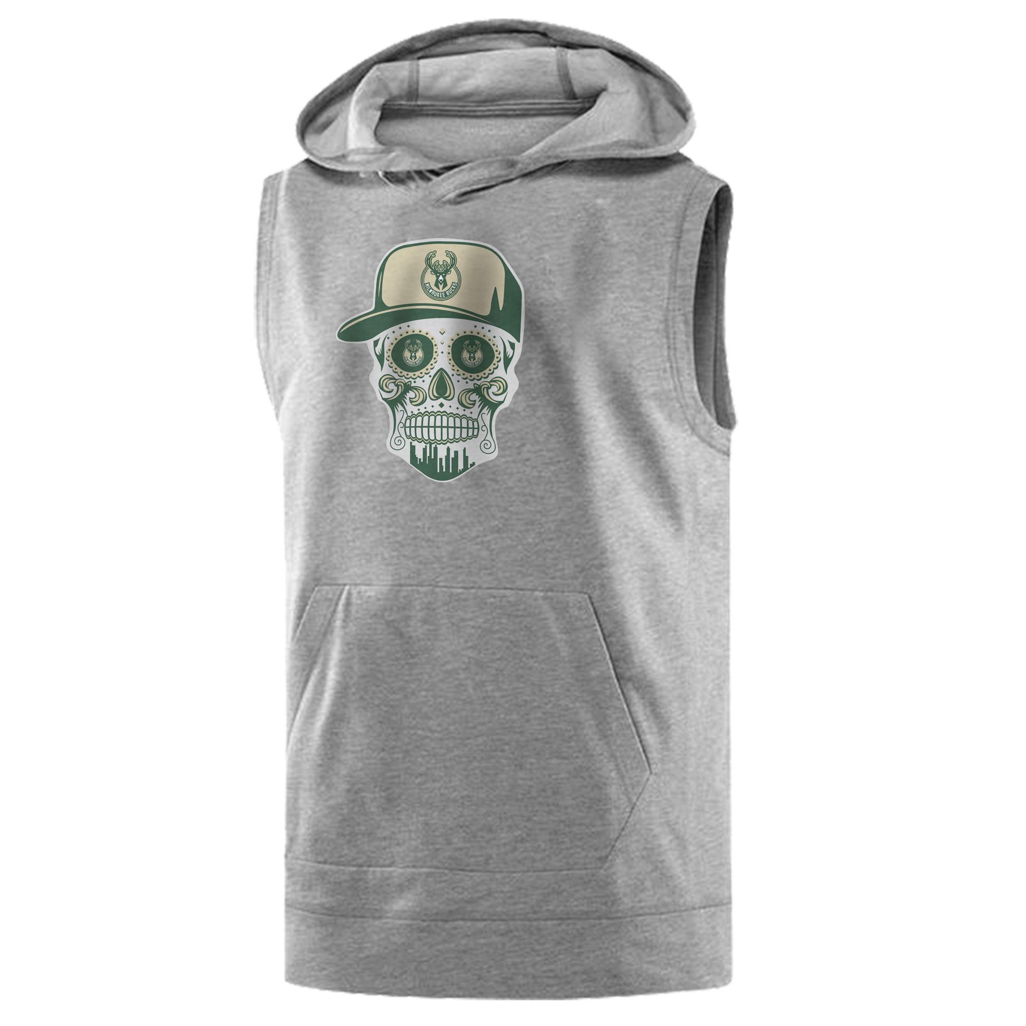 Bucks  Skull Sleeveless (KLS-GRY-NP-446-BUCKS-SKULL)