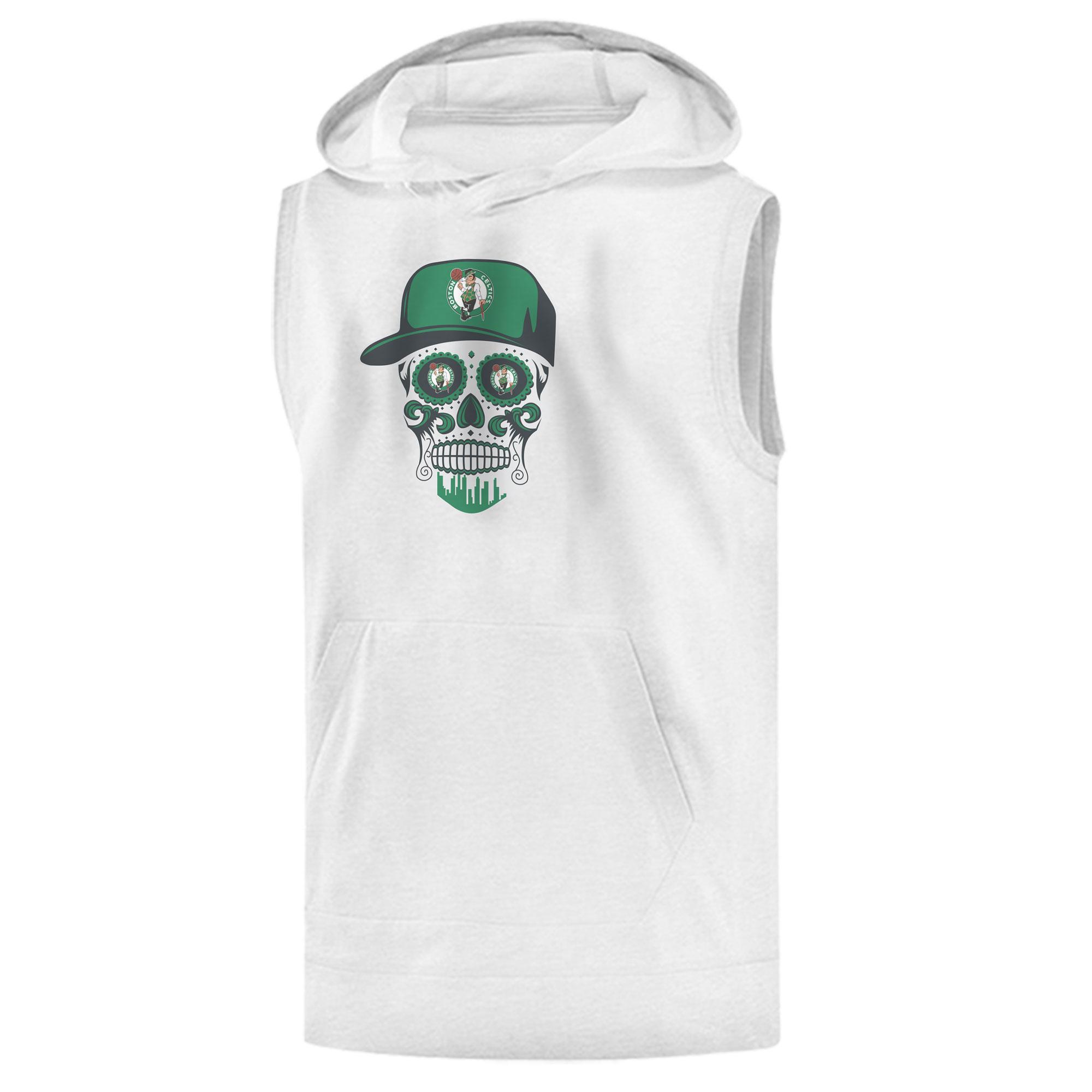 Celtics Skull  Sleeveless (KLS-WHT-NP-448-NBA-BSTN-SKULL)