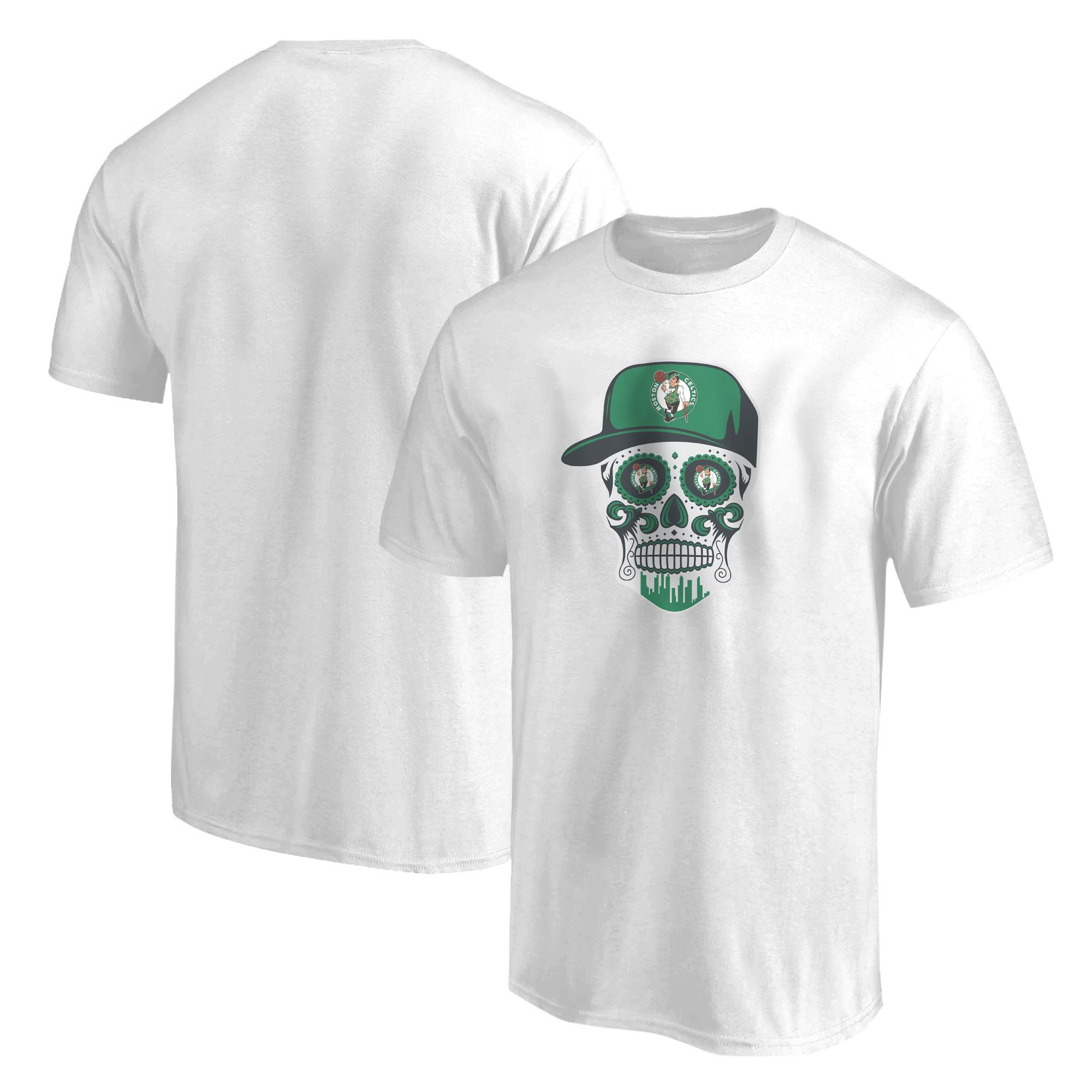 Celtics Skull Tshirt  (TSH-BLC-NP-448-NBA-BSTN-SKULL)
