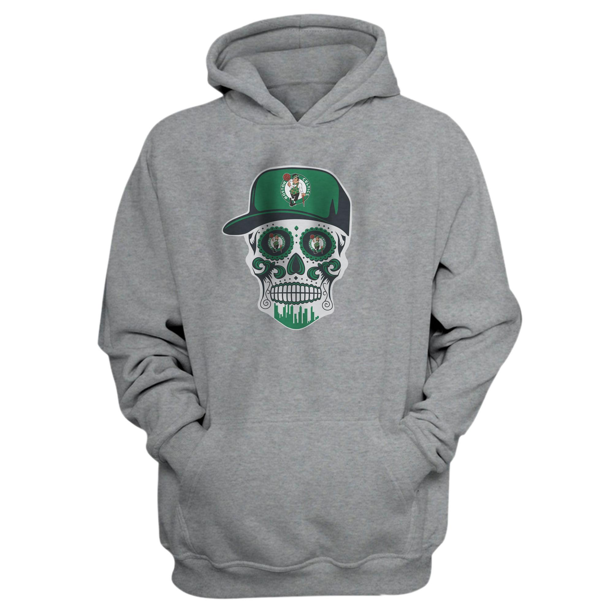 Celtics Skull Hoodie (HD-GRN-NP-448-NBA-BSTN-SKULL)