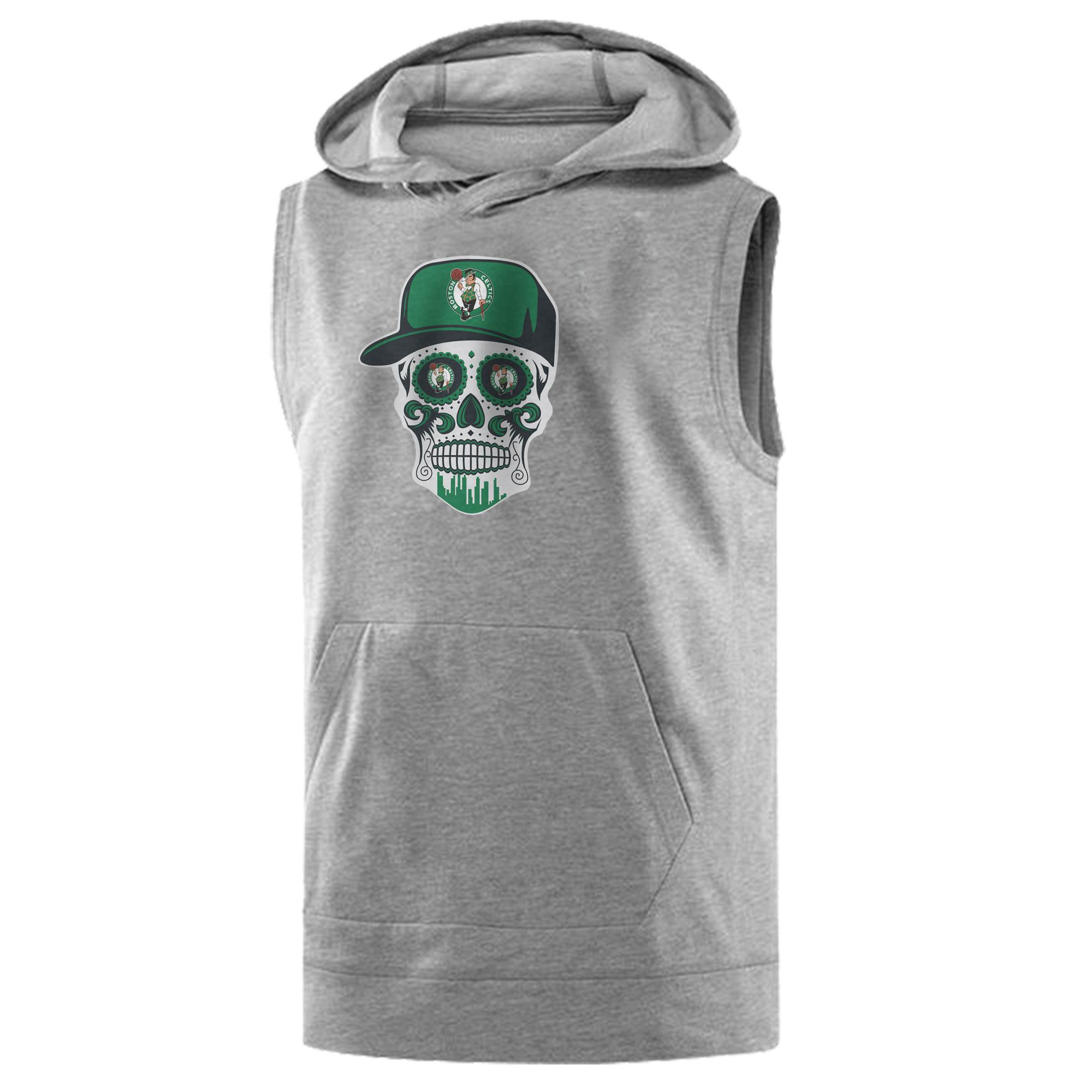 Celtics Skull  Sleeveless (KLS-GRY-NP-448-NBA-BSTN-SKULL)