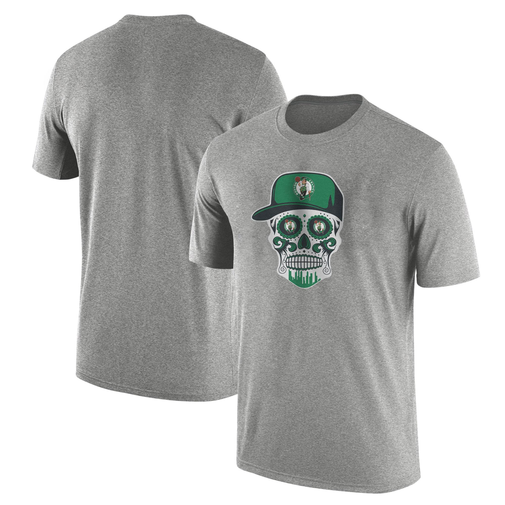 Celtics Skull Tshirt  (TSH-GRY-NP-448-NBA-BSTN-SKULL)