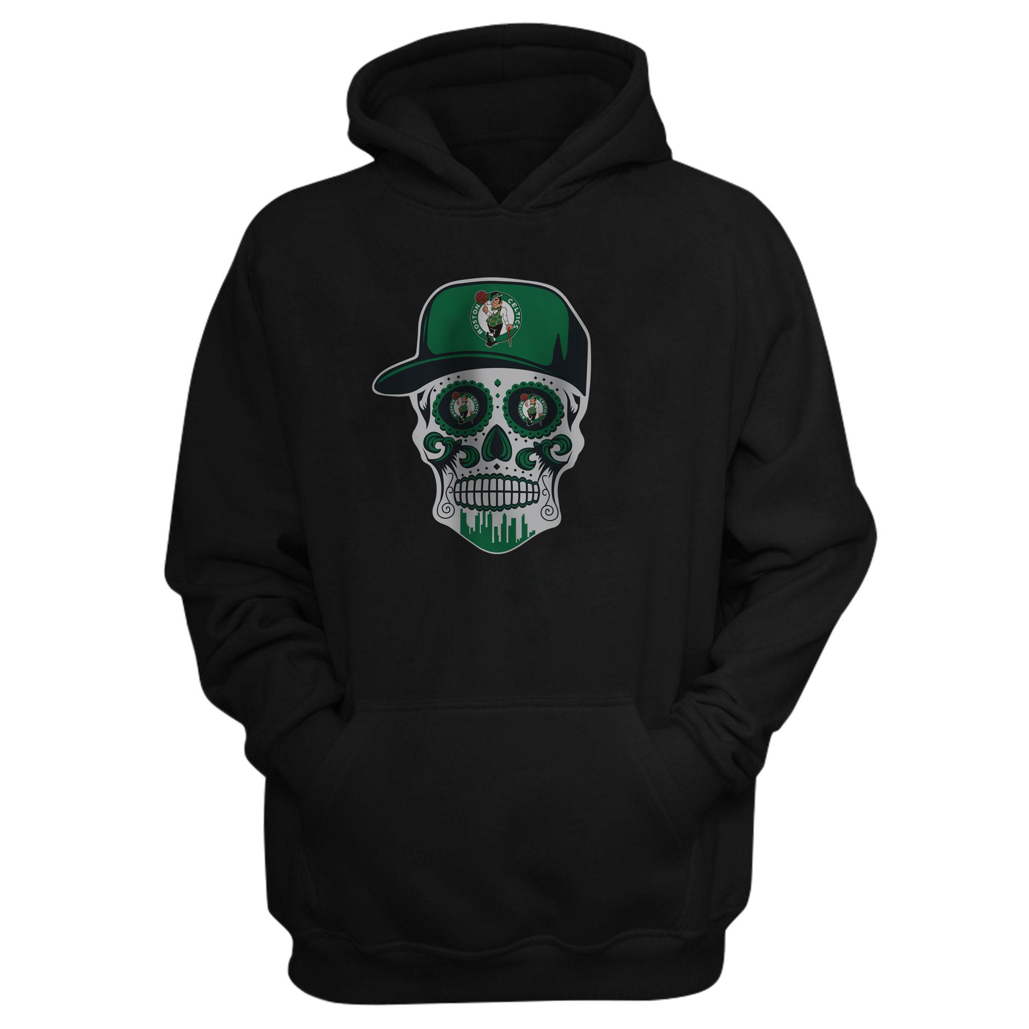 Celtics Skull Hoodie (HD-BLC-NP-448-NBA-BSTN-SKULL)