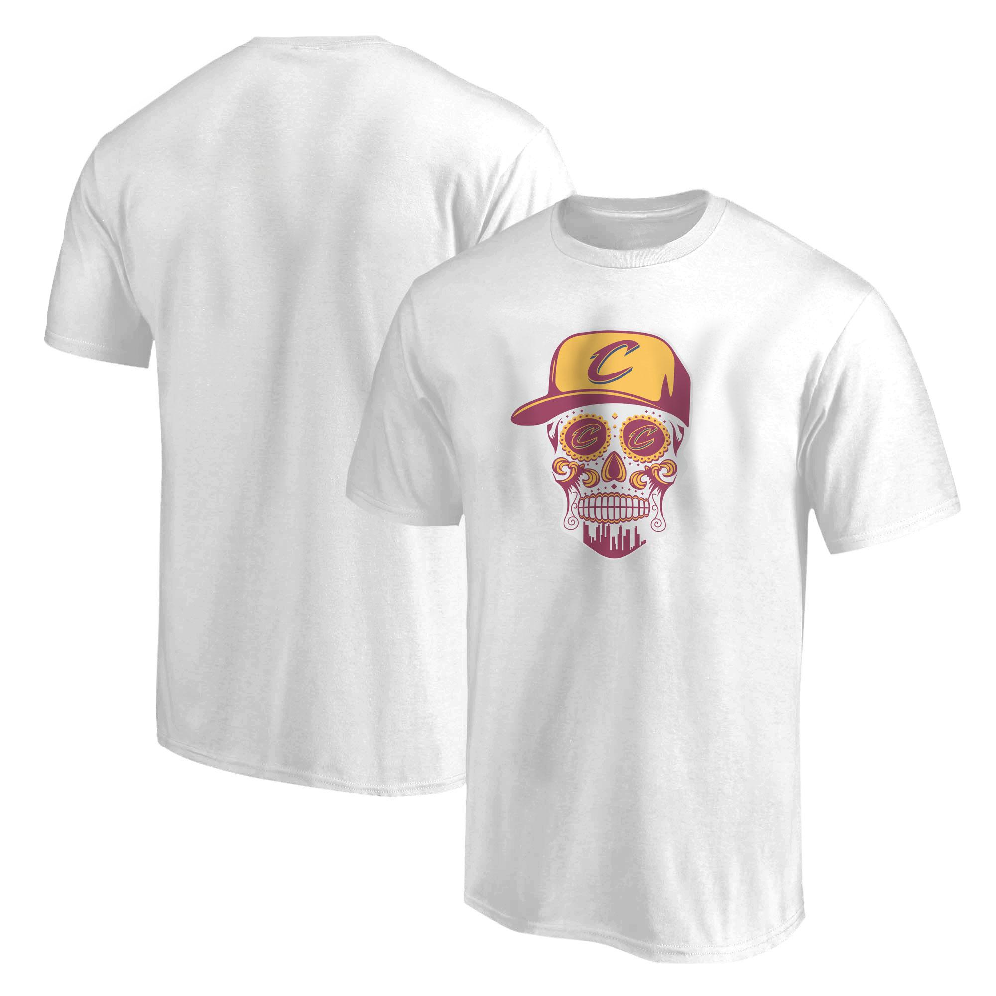 Cleveland Skull Tshirt (TSH-WHT-NP-449-NBA-CLE-SKULL)