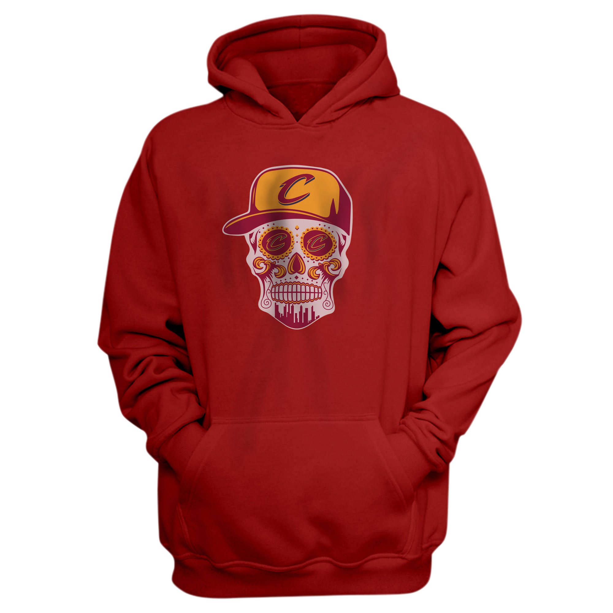 Cleveland  Skull Hoodie (HD-RED-NP-449-NBA-CLE-SKULL)