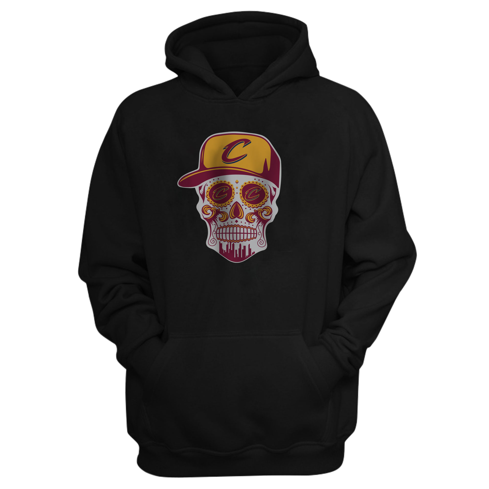 Cleveland  Skull Hoodie (HD-BLC-NP-449-NBA-CLE-SKULL)
