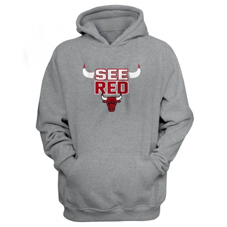 Chicago Bulls 'See Red' Hoodie (HD-BLC-45-NBA-CHİ-SEE.RED)