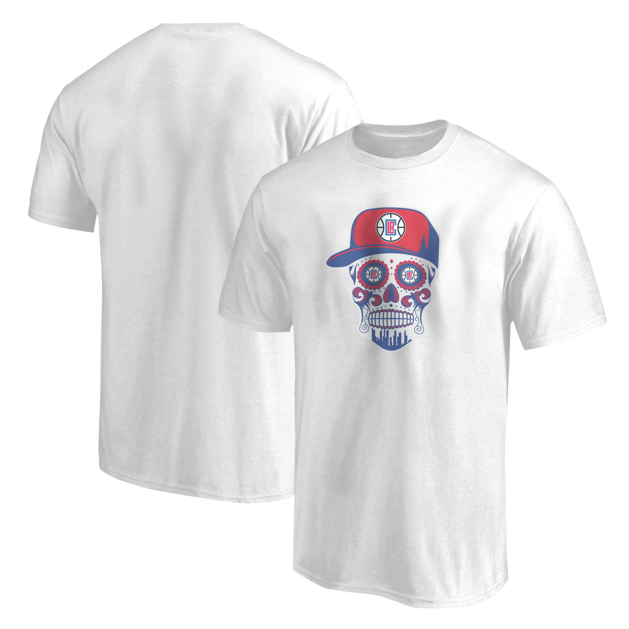 Clippers Skull Tshirt (TSH-WHT-NP-450-CLIPPERS-Skull)