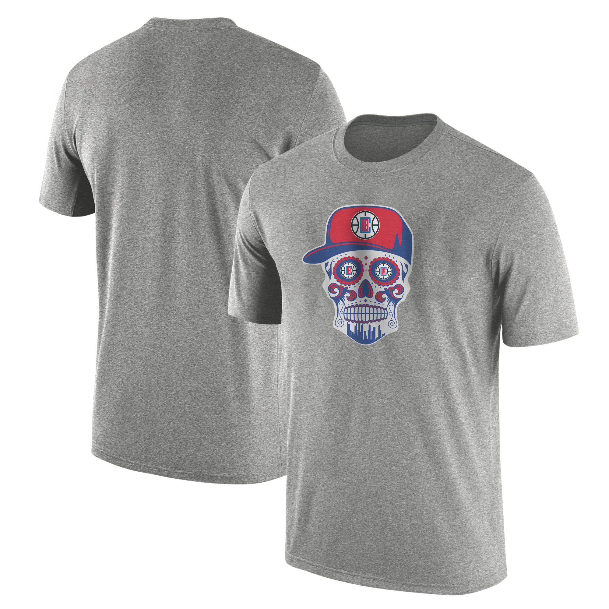 Clippers Skull Tshirt (TSH-GRY-NP-450-CLIPPERS-Skull)