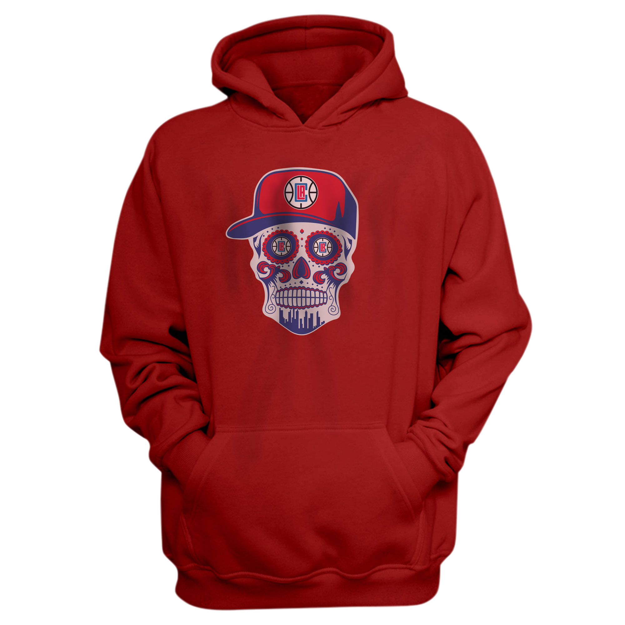 Clippers Skull Hoodie (HD-RED-NP-450-CLIPPERS-SKULL)